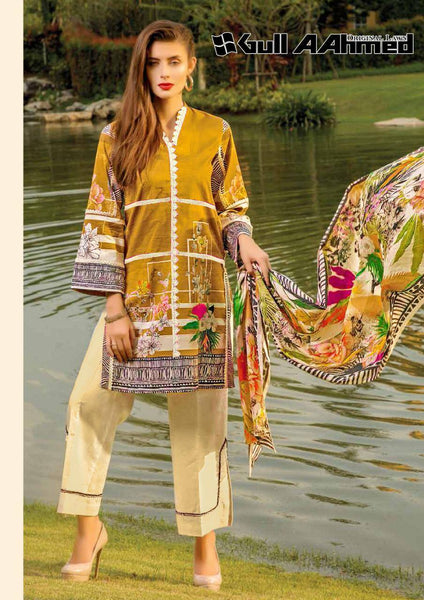 Gull Ahmed Lawn 2 pure lawn printed dress 14