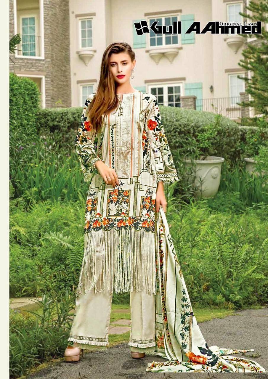 Gull Ahmed Lawn 2 pure lawn printed dress 15