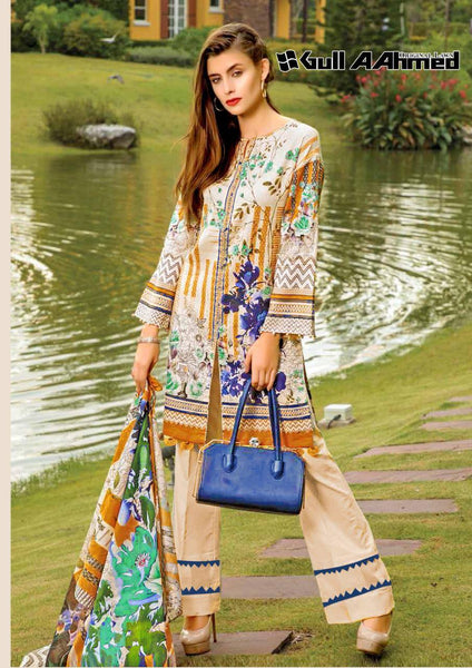 Gull Ahmed Lawn 2 pure lawn printed dress 16