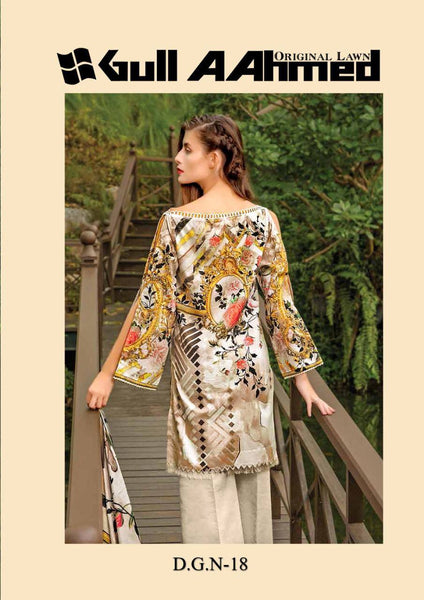 Gull Ahmed Lawn 2 pure lawn printed dress 18