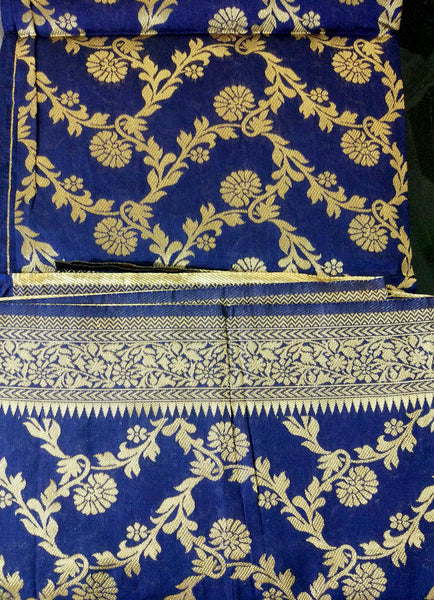 Banaras Cotton Satin Fabric 5203