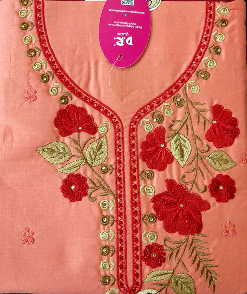 Banaras Cotton Satin Fabric 5204