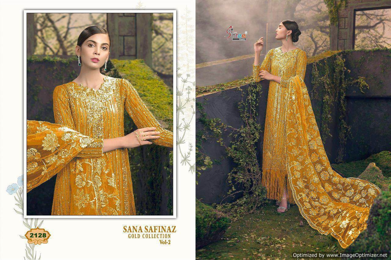 Shree Sana Safinaz Gold Collection 2 Pakistani Suits 2128