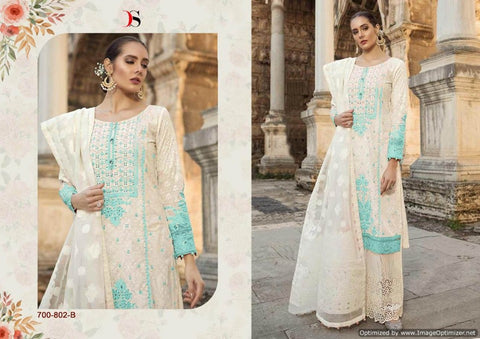 Maria b Lawn 19 Silver Pakistani Suits 700-802-B