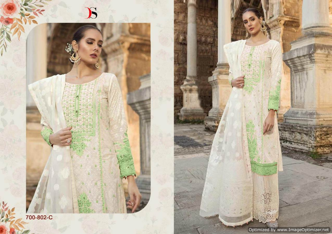 Maria b Cotton 19 Silver Indian Suits 700-802-C