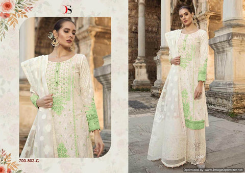 Maria b Lawn 19 Silver Pakistani Suits 700-802-C