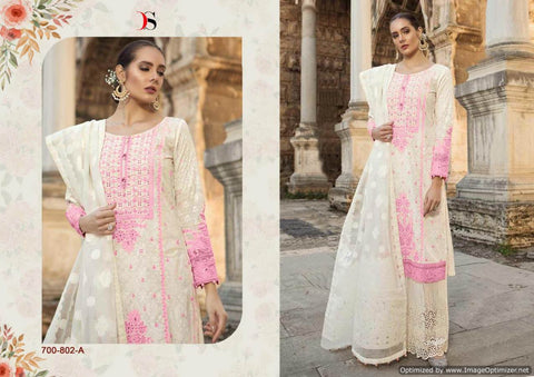 Maria b Lawn 19 Silver Pakistani Suits 700-802-A