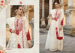 Maria b Lawn 19 Silver Pakistani Suits 700-802-F