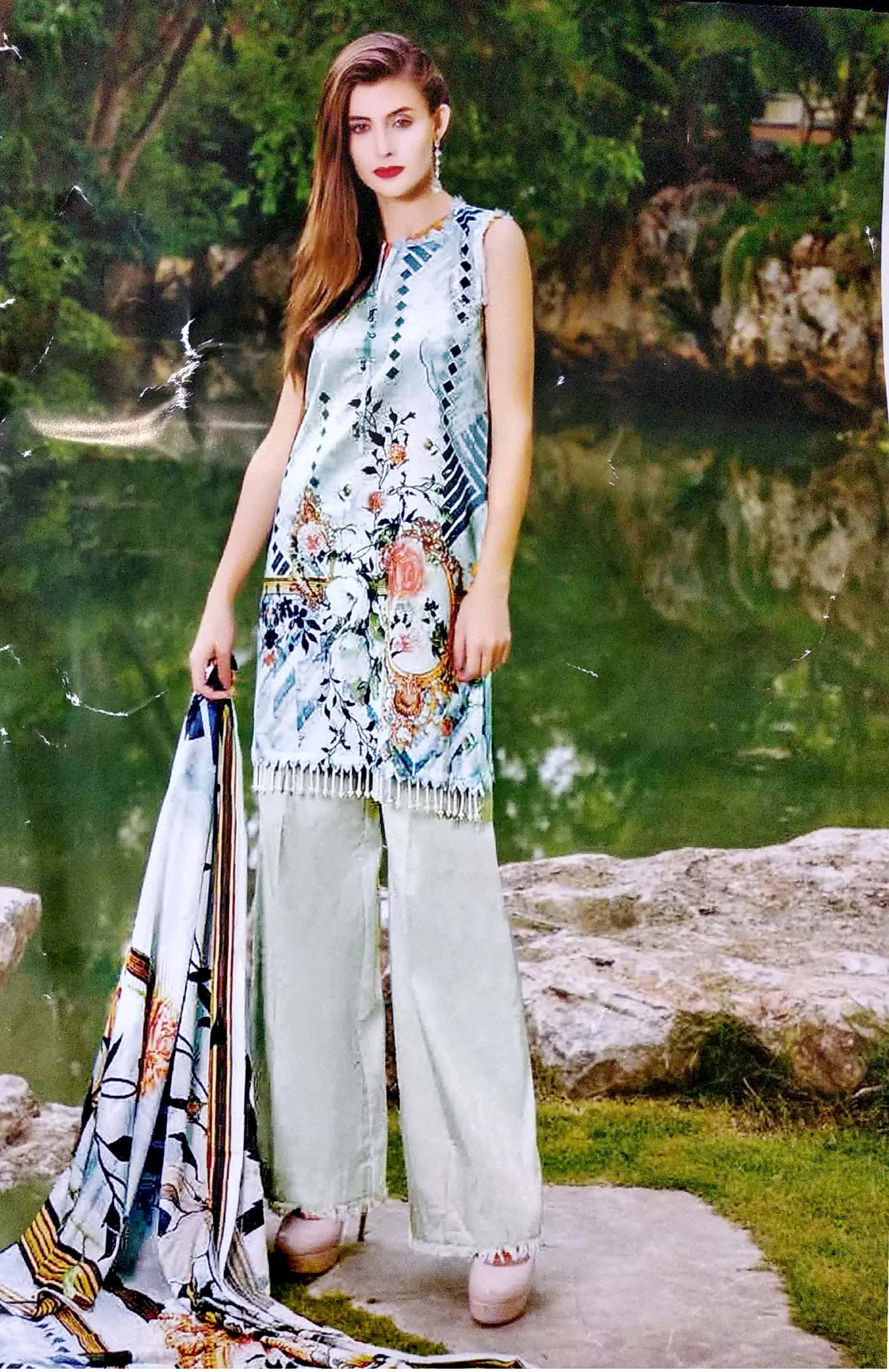 Gull Ahmed Lawn 2 pure lawn printed dress 20