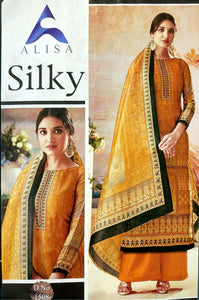 Alisa Silky soft silk with diamond work fancy Salwar suit 1508