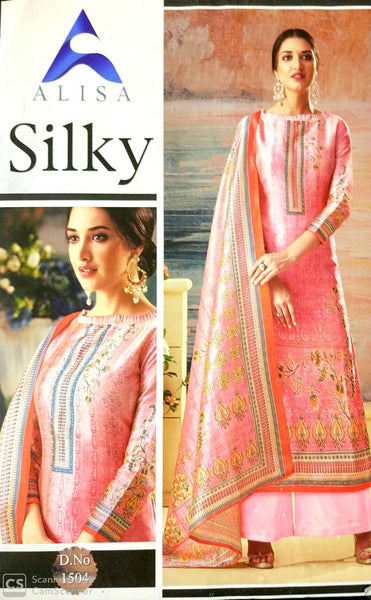 Alisa Silky soft silk with diamond work fancy Salwar suit 1504