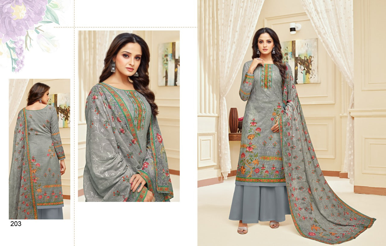 Meera Trendz Zisa Daisy Cotton Printed  Salware Suits 203