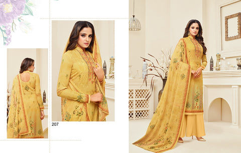 Meera Trendz Zisa Daisy Cotton Printed  Salware Suits 207