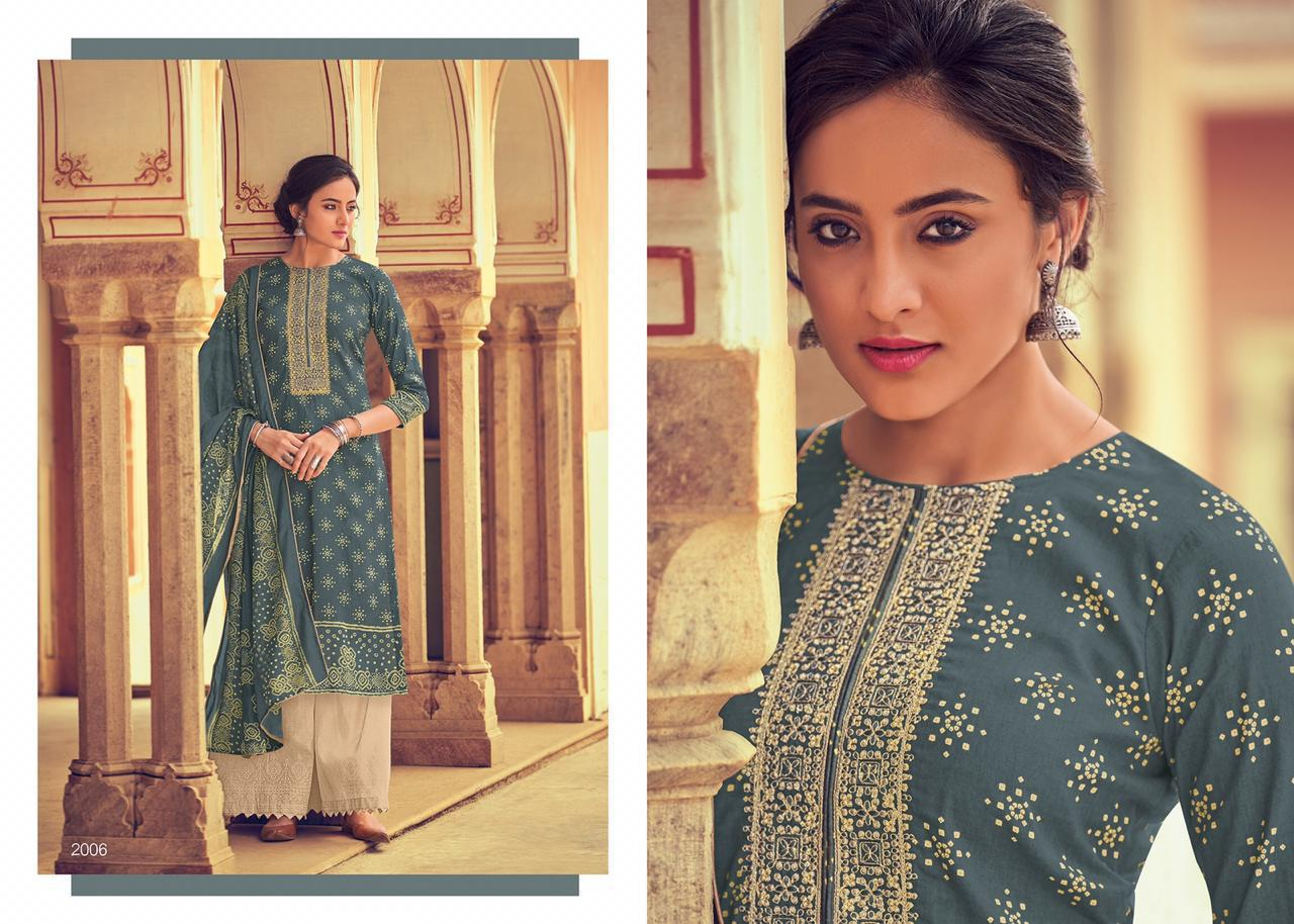 Bandhani Print Cotton with embroidery Salwar Suits 2006