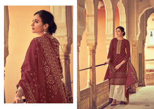 Bandhani Print Cotton with embroidery Salwar Suits 2008