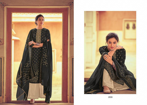 Bandhani Print Cotton with embroidery Salwar Suits 2009