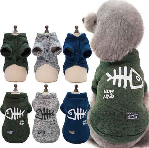 Pet Puppy Dog Clothes Hoodies For Small Medium Dogs Cats Kitten