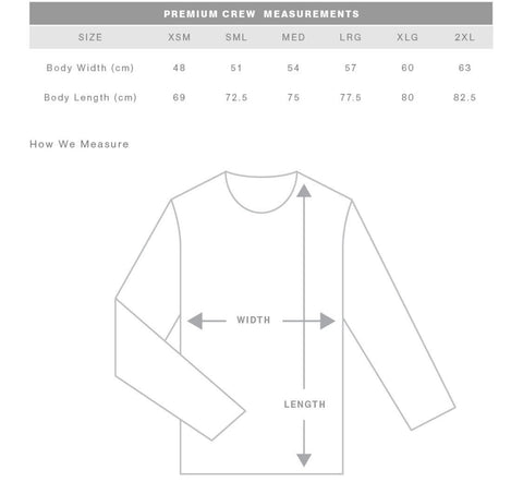 Mendl Movement Size Chart Sweaters