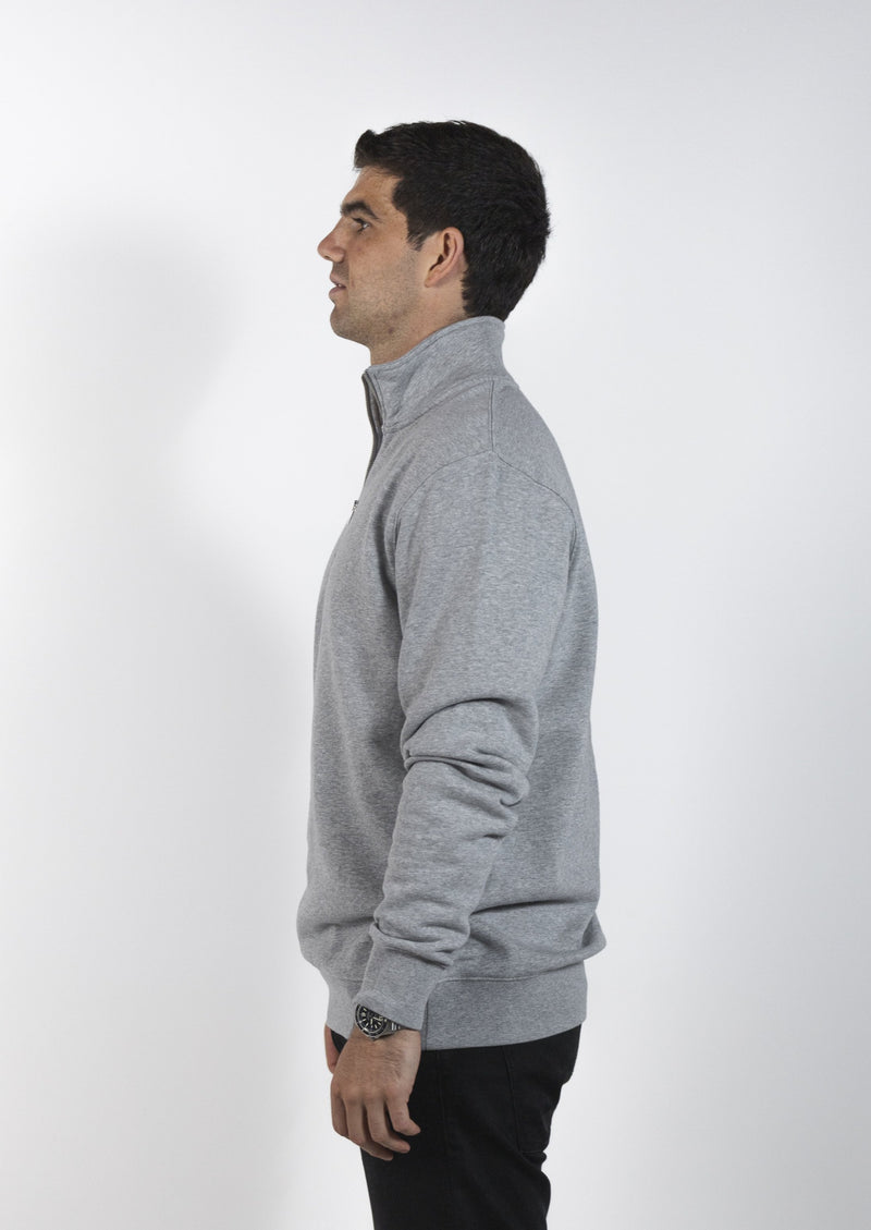 Mendl Flinders 1/4 Zip Sweater Grey