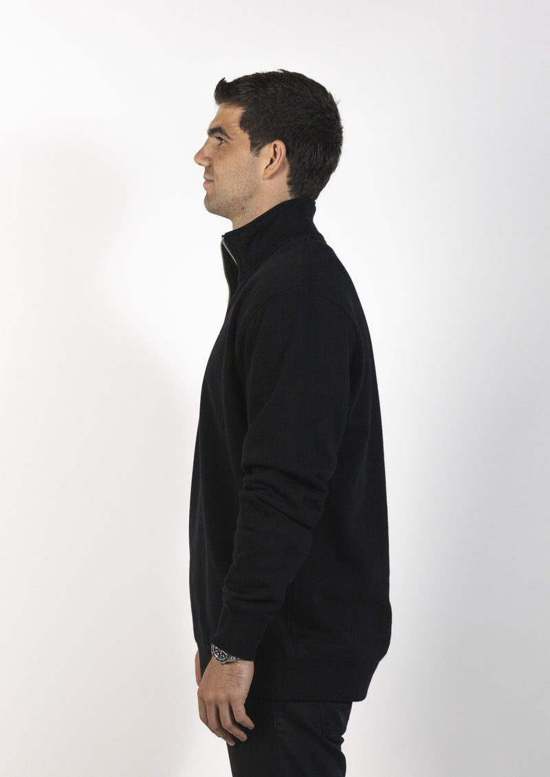 Flinders 1/4 Zip Fleece - Black