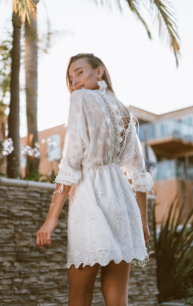Lola White Lace Dress by MUSE Fashion
