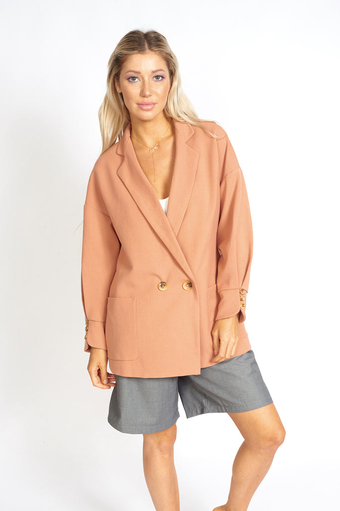 Lisa Business Casual Oversized Blazer by MUSE Fashion