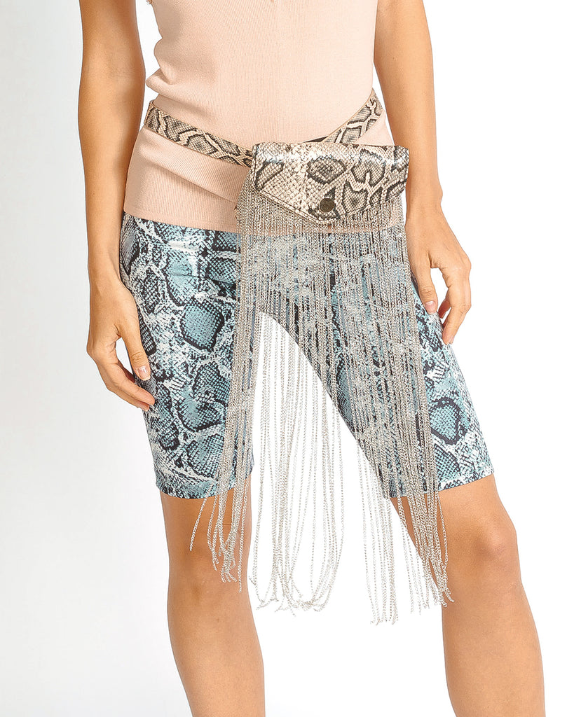 Snake Print Biker Shorts by MUSE Fashion