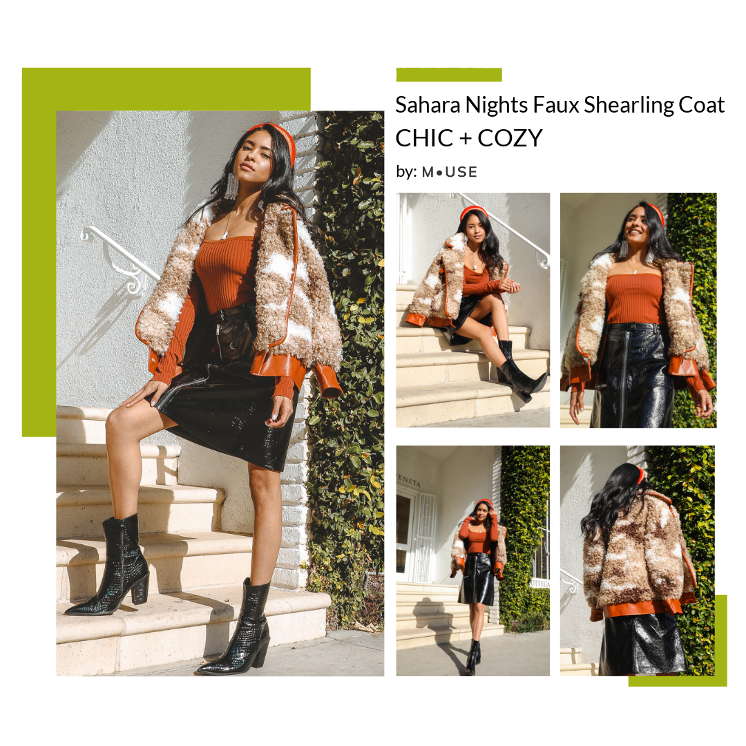 MUSE Fashion Sahara Nights Faux Shearling Coat