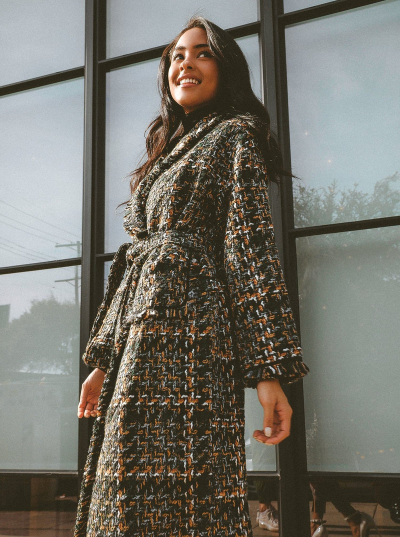 Victoria Tailored Wrap Tweed Coat Clothing m-usefashion