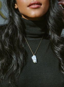Eden Minimalistic Natural Pearl Necklace Jewelry m-usefashion