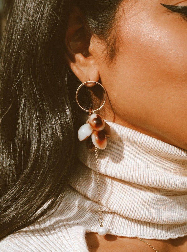 Look and Dangle Tortoiseshell Earrings Jewelry m-usefashion