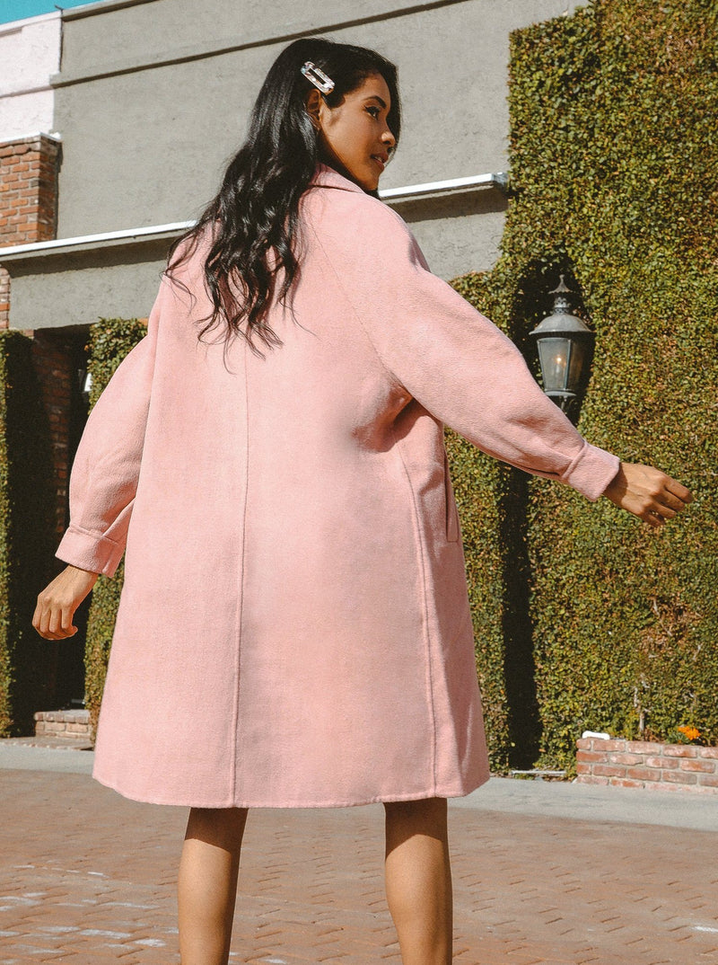 Audrey Balloon Sleeve Wool Coat Clothing m-usefashion