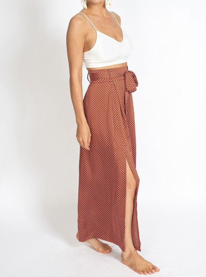 Alessandra Wide Leg Slit Pants Clothing m-usefashion