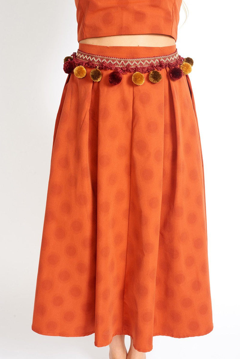 Be My Polka Dot High Rise Maxi Skirt Clothing m-usefashion