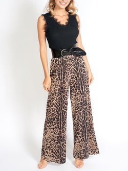 Bianca Velvet Pants in Leopard Print Clothing m-usefashion