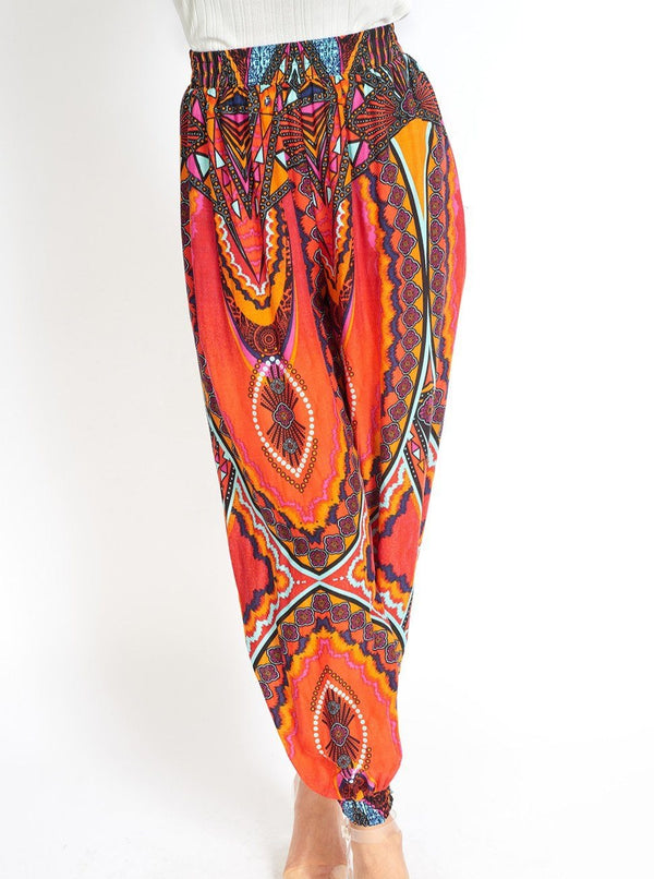 Boho Yoga Hippie Pants Red Clothing m-usefashion