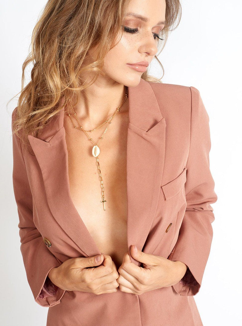Business Babe 90s Fit Double Breasted Blazer Clothing m-usefashion