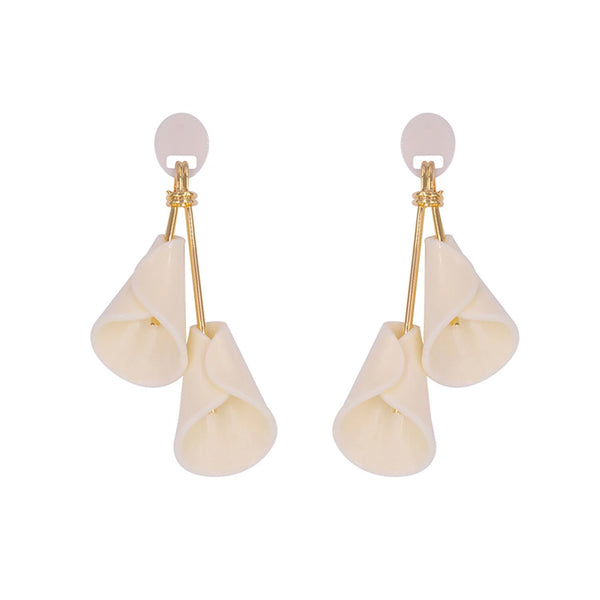 Chunky Hanging Shell Cone Earrings Jewelry m-usefashion