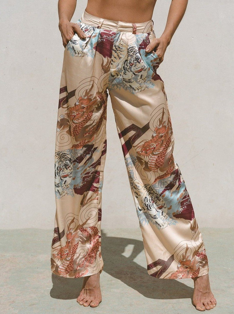 Kayda Satin Wide Leg Pants Clothing m-usefashion