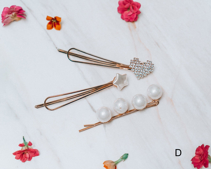 Lilly Ann Faux Pearl Hair Pin Set Accessories m-usefashion