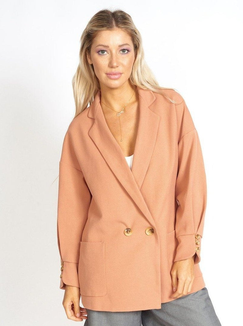 Lisa Business Casual Oversized Blazer Clothing m-usefashion XS Coral Pink