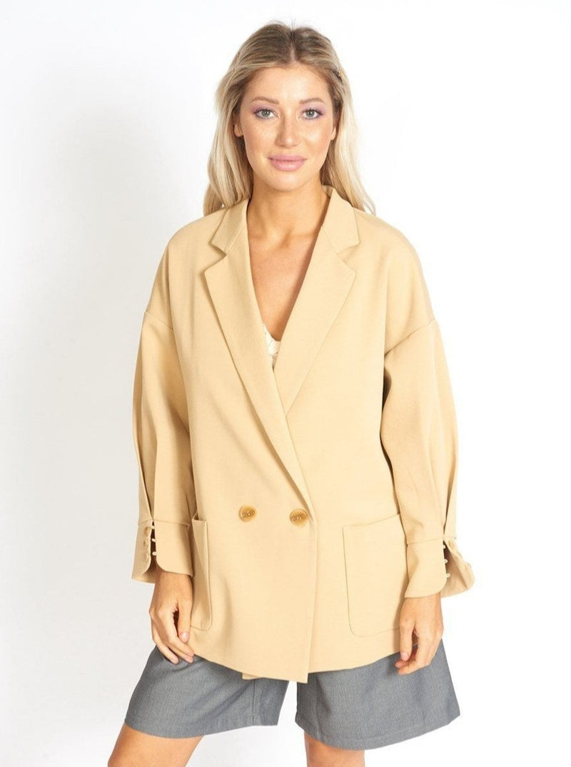Lisa Business Casual Oversized Blazer Clothing m-usefashion XS Corn