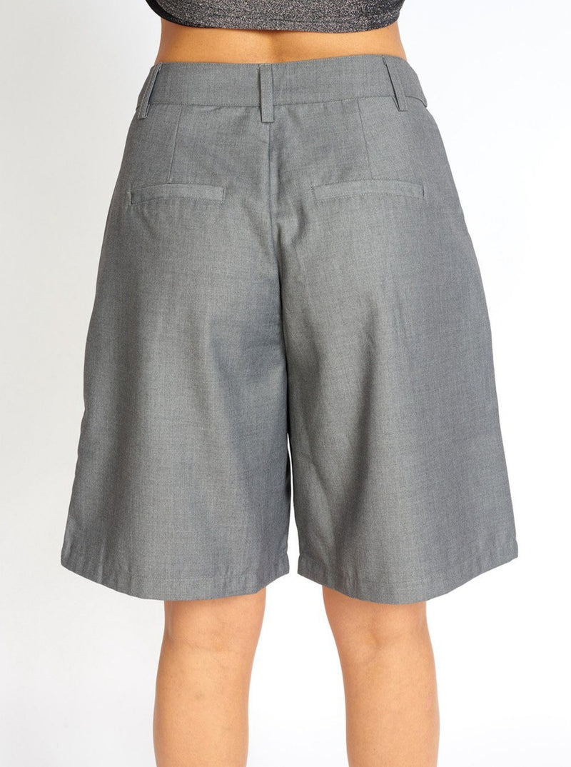 Loose Cut Cloth Bermuda Shorts Clothing m-usefashion