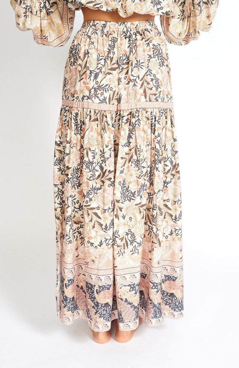 Off To Bali High Waist Boho Side-Slit Maxi Skirt Clothing m-usefashion