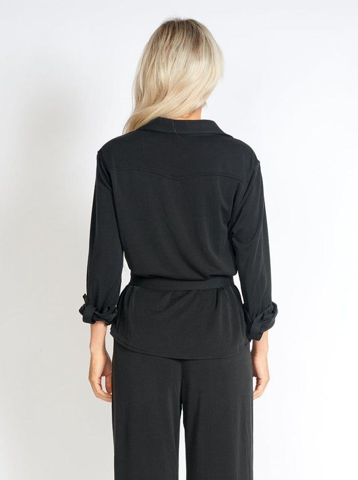 Office Day Easy Black Shirt Top Clothing m-usefashion