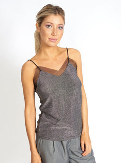 Sheer It Baby Metallic Mesh Cami Clothing m-usefashion