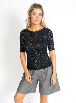 So Sweet Frill Polka Dots Top Clothing m-usefashion