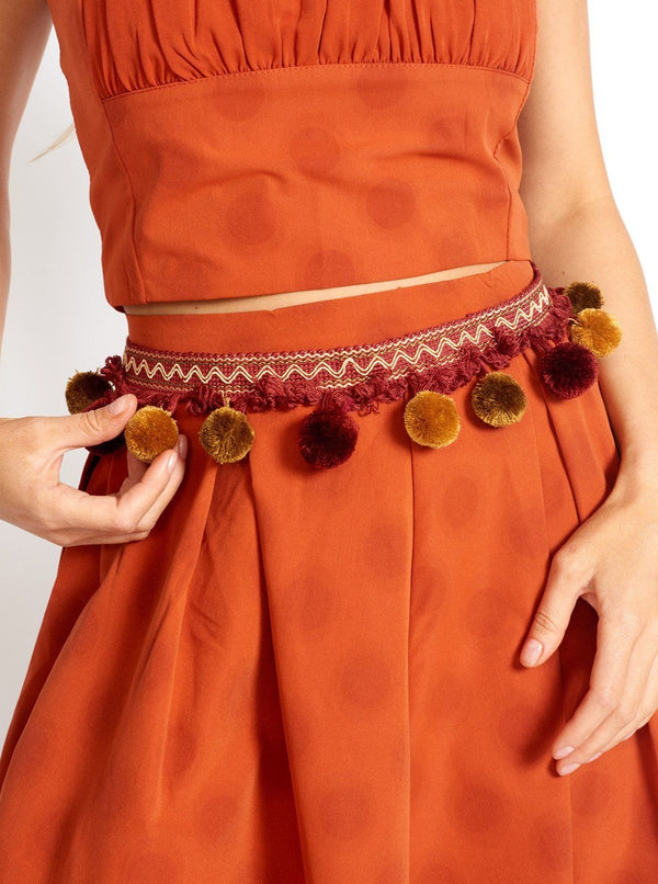 Tulum Vibe Bohemian Pom Pom Belt Accessories m-usefashion