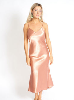 Valentina Satin Slip Dress Clothing m-usefashion