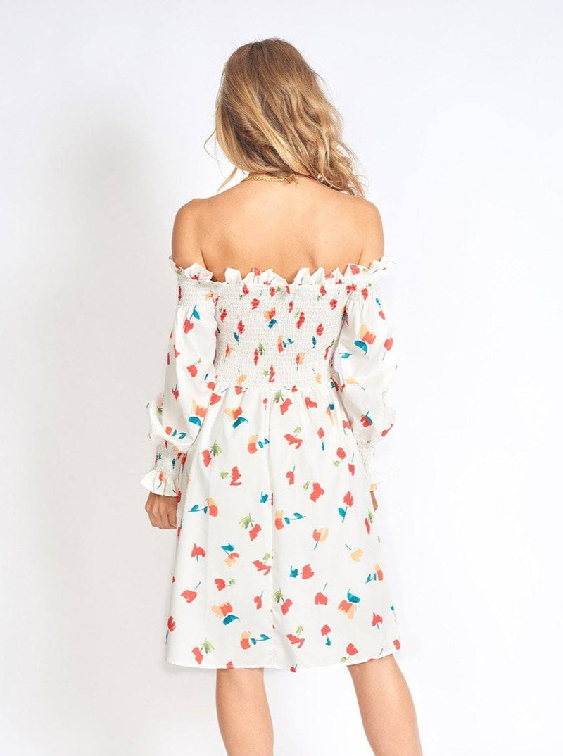 Victoria Off Shoulder Floral Dress Clothing m-usefashion